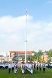 malaysianen för konungen för 2011 födelsedagberömmar ståtar Arkivbild