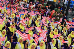 Malaysians at the recent Malaysian Independence Day celebration Royalty Free Stock Photography