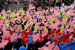 Malaysians at the recent Malaysian Independence Day celebration Stock Photos