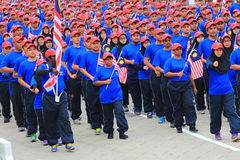 Malaysians at the recent Malaysian Independence Day celebration Royalty Free Stock Image