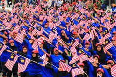 Malaysians at the recent Malaysian Independence Day celebration Royalty Free Stock Photos