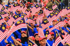 Malaysians at the recent Malaysian Independence Day celebration Royalty Free Stock Photo