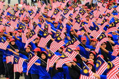 Malaysians at the recent Malaysian Independence Day celebration Stock Photography
