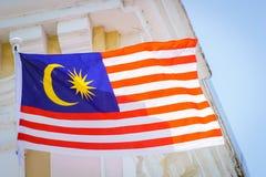 Malaysische Flagge in George Town, Penang, Malaysia Lizenzfreie Stockfotografie