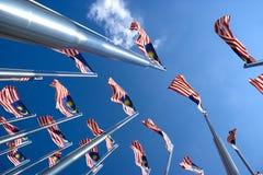 Malaysische Markierungsfahnen Lizenzfreies Stockfoto