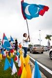 Malaysische Oppositions-Parteianhänger Stockbild
