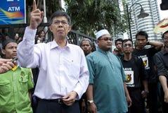 Malaysische Politiker-Verbindung eine Demonstration Lizenzfreie Stockbilder