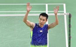 Malaysischer Badmintonspieler, lizenzfreie stockfotos