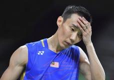 Malaysischer Badmintonspieler, lizenzfreies stockbild
