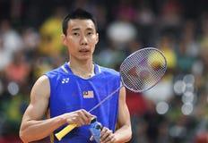 Malaysischer Badmintonspieler lizenzfreie stockfotografie