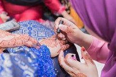 Malaysischer Hochzeits-Hennastrauch Stockbilder