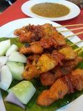 Malaysisches Huhn Satay Stockfotografie
