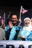 Malaysisches Politiker Anwar Ibrahim Wellenartig bewegen Stockfotos