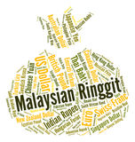 Malaysisches Ringgit stellt Geldumtausch und Prägung dar Stockbilder