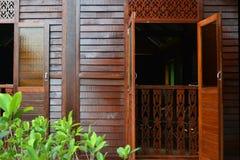 Malaysisches traditionelles Haus-Fenster Lizenzfreies Stockfoto