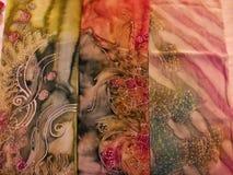 Malaysisk Batik arkivbild