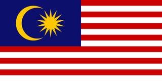 Malaysisk flagga, plan orientering, vektorillustration Arkivfoton