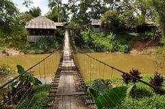 Malaysisk hängande bro Royaltyfri Bild