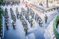 Malaysisk kunglig årsdag för armé 80th Arkivfoton
