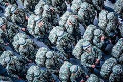 Malaysisk kunglig årsdag för armé 80th Arkivbilder