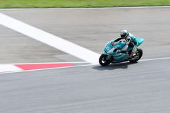 Malaysisk Moto GP 2013 - Hafiz Shahrin Arkivfoton
