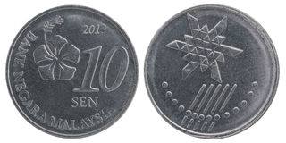 Malaysisk sen mynt Royaltyfri Bild