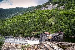 Malbaie River National Park Dam Royalty Free Stock Photography