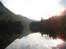Malbaie-tramonto Fotografia Stock