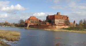 Malborg. Castle Malborg. Brick knight's castle Royalty Free Stock Images