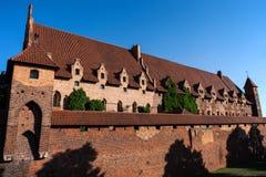 Το Malbork Castle της τευτονικής διαταγής στην Πολωνία στοκ εικόνες