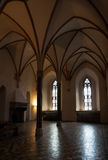 Malbork castle chamber. Chamber of the Teutonic castle Malbork in Pomerania region of Poland. UNESCO World Heritage Site. Knights fortress also known as Stock Photo