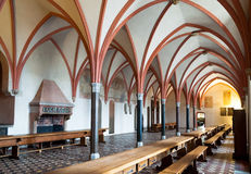 Malbork castle dining hall interior Royalty Free Stock Image