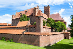 Malbork castle exterior Stock Photo