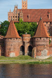 Malbork Castle Fortificaitons Royalty Free Stock Images