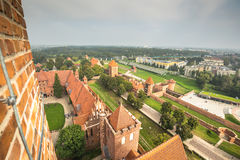 Malbork Castle at Nogat River in Poland, Europe Stock Photo