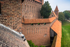 Malbork Castle at Nogat River in Poland, Europe Stock Photography