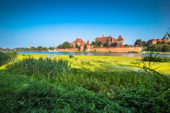 Malbork Castle at Nogat River in Poland, Europe Stock Image