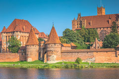 Malbork Castle at Nogat River in Poland, Europe Royalty Free Stock Image