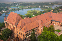 Malbork Castle at Nogat River in Poland, Europe Royalty Free Stock Photo