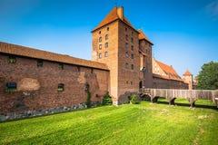 Malbork Castle at Nogat River in Poland, Europe Stock Images