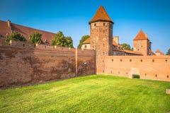 Malbork Castle at Nogat River in Poland, Europe Stock Photos