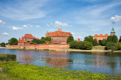 Malbork Castle at Nogat River Stock Photo