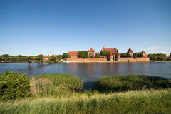 Malbork Castle At Nogat River in Poland Royalty Free Stock Image