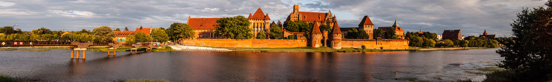 Malbork castle panorama image Royalty Free Stock Photos