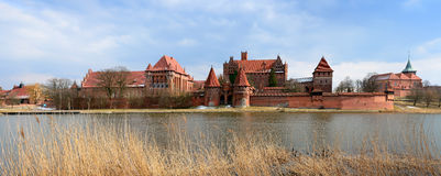 Malbork castle in poland Royalty Free Stock Photos