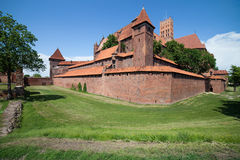 The Malbork Castle in Poland Royalty Free Stock Photos