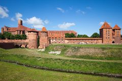 Malbork Castle in Poland. Medieval fortress built by the Teutonic Knights Order Stock Images