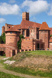 Malbork Castle in Poland. Medieval fortress built by the Teutonic Knights Order, east side Stock Images