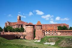 Malbork Castle in Poland. Medieval fortress built by the Teutonic Knights Order, east side Royalty Free Stock Photo