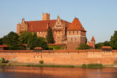 Malbork Castle in Poland Stock Images